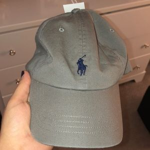 Gray polo hat